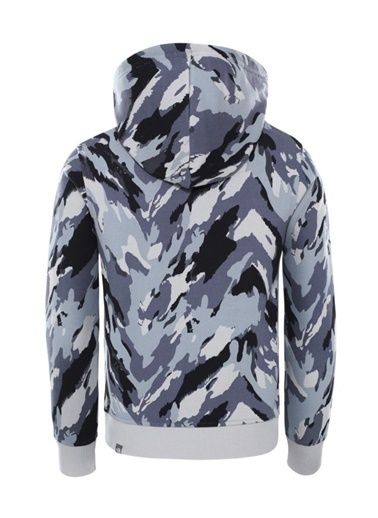 The North Face Drew Peak Pullover Hoodie Çocuk Sweatshirt Kamuflaj Gri
